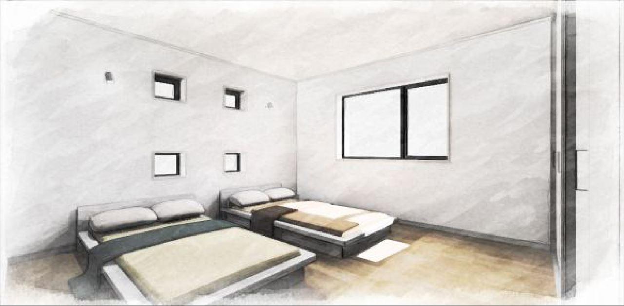 Z-5_2F『寝室』 (南向きの明るい8帖の寝室。)