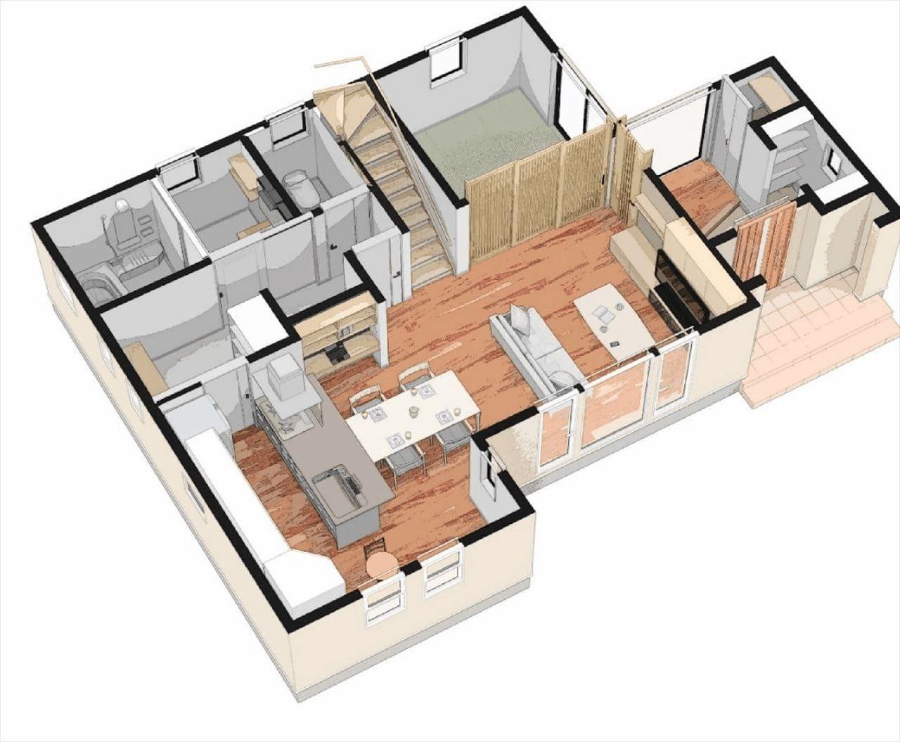 2階建立体図1階部分