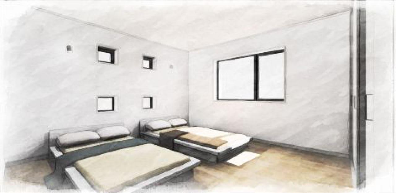 Z-4_2F『寝室』 (南向きの明るい8帖の寝室。)