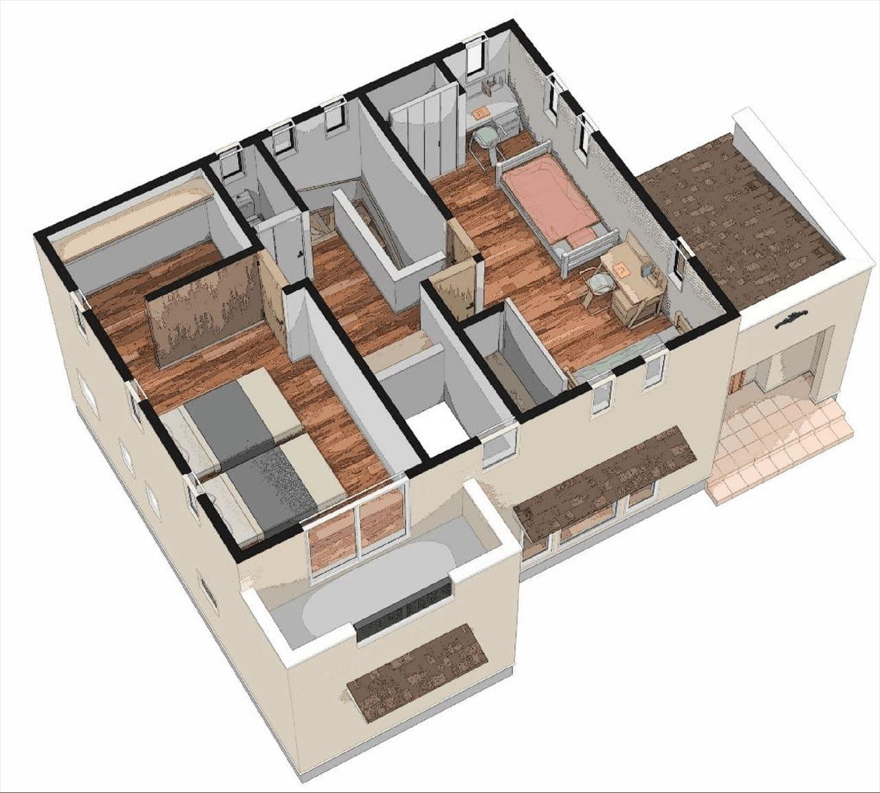 2階建立体図2階部分